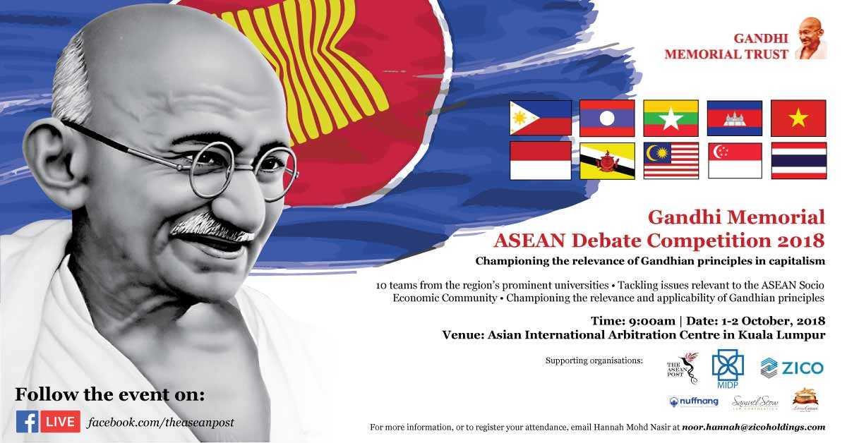 Gandhi Memorial ASEAN Debate Competition 2018